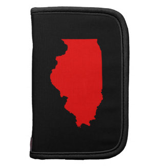 Black and Red Illinois Planner