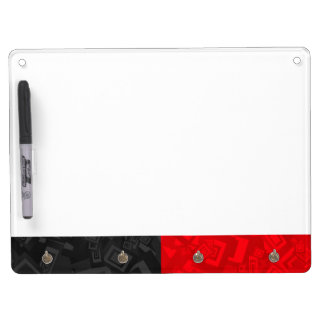 Black and Red Keychain Holder, Pen Dry Erase Dry Erase Board With Keychain Holder