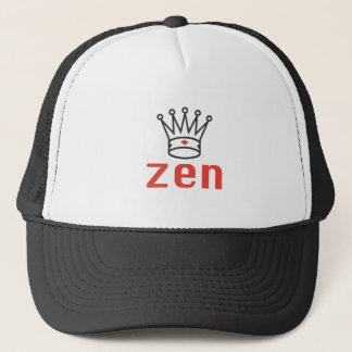 BLACK AND RED KING ZEN MEDITATION AND INTUITION TRUCKER HAT