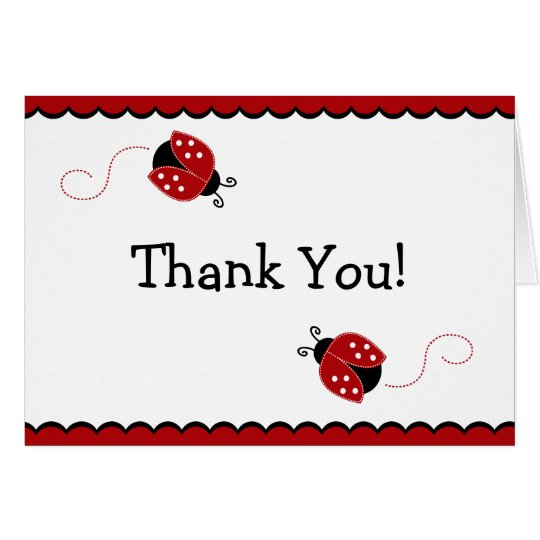 Gallery Of Ladybug Thank You Card Templates