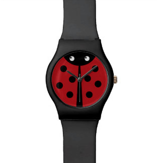 Black and Red Ladybug Watch