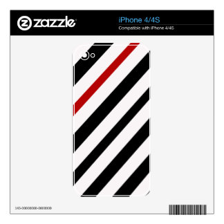 Black and red lines skin for iPhone 4S