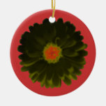 Black and Red Marigold Custom Birthday Christmas Ornament