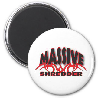 Black and red massive 2 inch round magnet