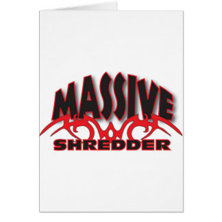 Black and red massive card