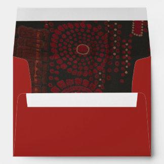 Black and Red Modernist Design Envelope