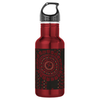 Black and Red Modernist Design Water Bottle