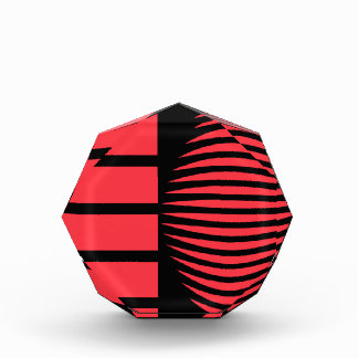 Black and red mystical geometry award