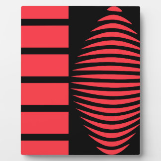 Black and red mystical geometry plaque