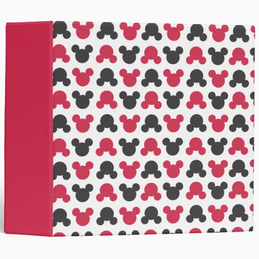 Black and Red Pattern Binders