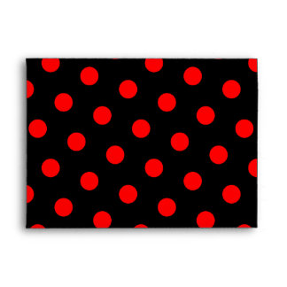 Black and Red Polka Dots Envelope
