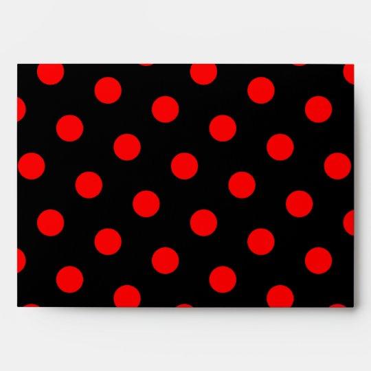Black and Red Polka Dots Envelope