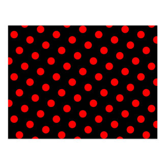 Black and Red Polka Dots Postcard