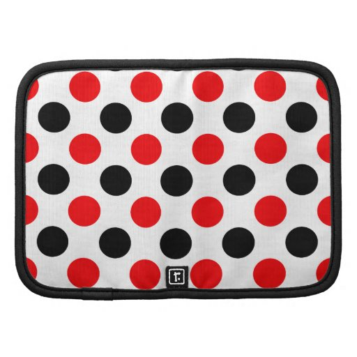 Black and Red Polkadots Pattern Planners