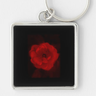 Black and Red Rose. Key Chain