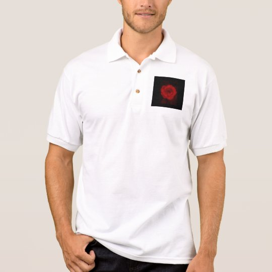 Black and Red Rose. Polo Shirt