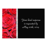 Black and Red Roses RSVP 3.5x5 Paper Invitation Card