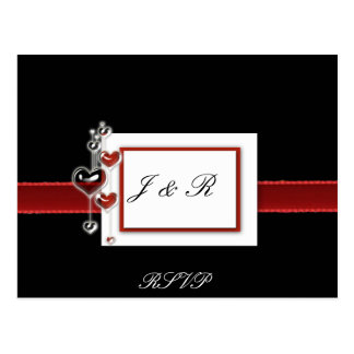 Black and Red RSVP card