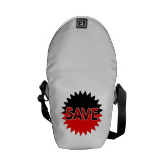 Black and Red Save Messenger Bags