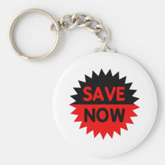 Black and Red Save Now Key Chains