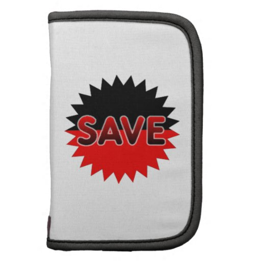 Black and Red Save Planner