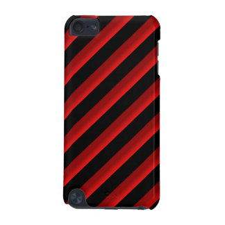 Black and Red Shaded Diagonal Stripes iPod Touch (5th Generation) Covers