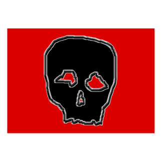 Black and Red Skull. Large Business Card