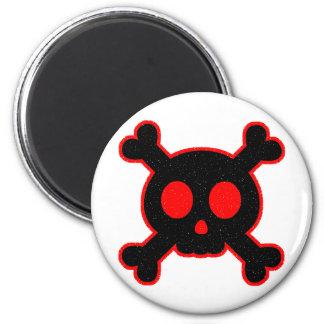Black and Red Skull Magnet