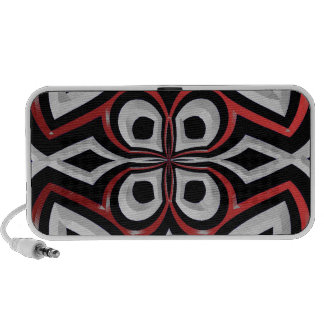 Black and Red Spider Abstract Doodle Speaker