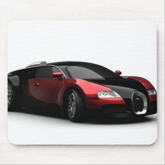 Black and Red Sports Car Mouse Pad