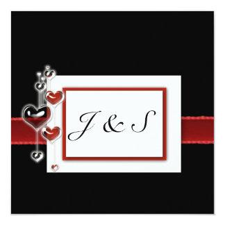 black and red square invite 5.25 x 5.25