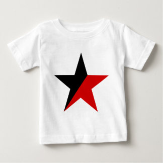 Black and Red Star Anarcho-Syndicalism Anarchism Baby T-Shirt