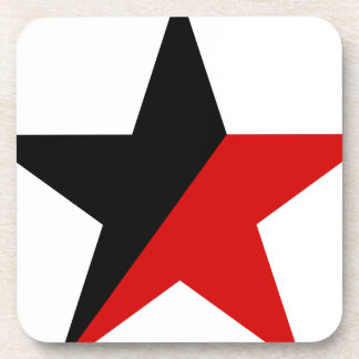 Black and Red Star Anarcho-Syndicalism Anarchism Beverage Coaster