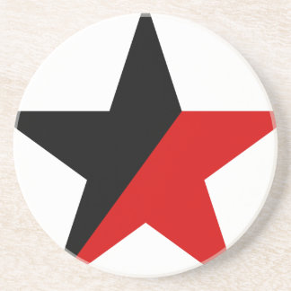 Black and Red Star Anarcho-Syndicalism Anarchism Drink Coaster