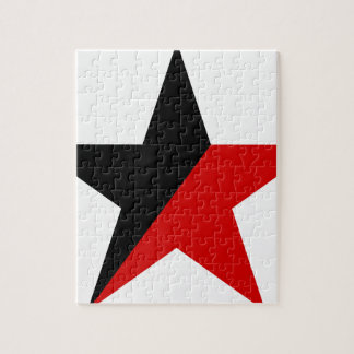 Black and Red Star Anarcho-Syndicalism Anarchism Jigsaw Puzzle