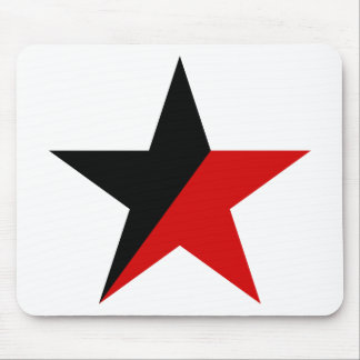 Black and Red Star Anarcho-Syndicalism Anarchism Mouse Pad