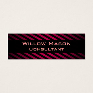 Black and Red Striped Professional Business Card