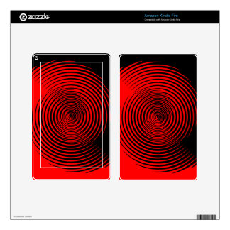 Black and Red Swirled Design Kindle Fire Skins