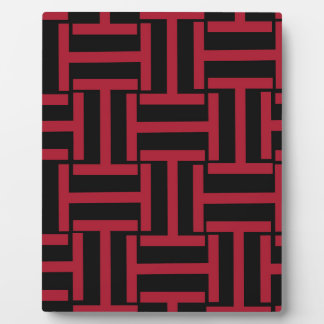 Black and Red T Weave Plaque