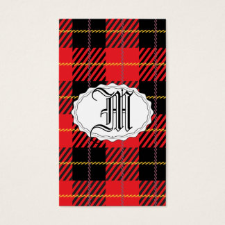 Black and Red Tartan Business Card