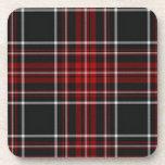 Black and Red Tartan Plaid Coaster