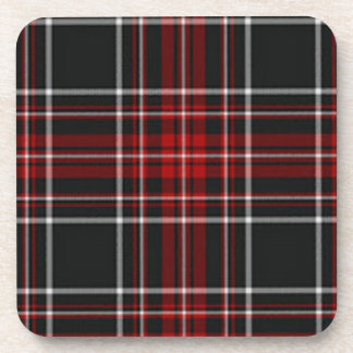 Black and Red Tartan Plaid Coaster