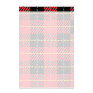 Black and Red Tartan Stationery