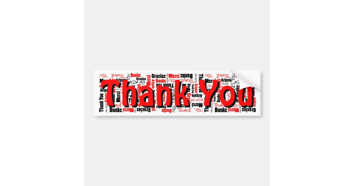 Black and red thank you word cloud template bumper sticker zazzle maxwellsz