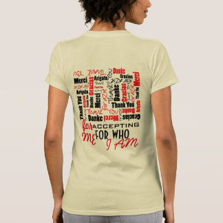 Black and Red Thank You Word Cloud Template T-Shirt