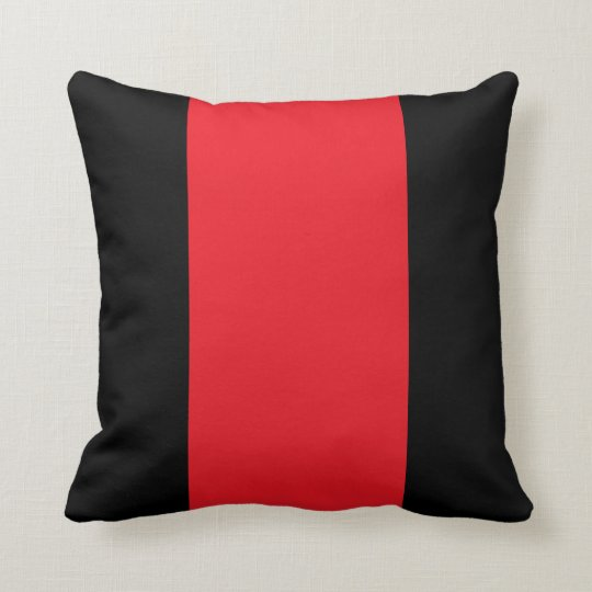 Decorative Pillows Red And Black : Black and Red Throw Pillow Zazzle