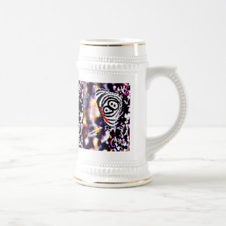 Black And Red Tiger Stripe Butterfly Stein