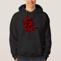 Black and Red Triangles Pattern Hoodie