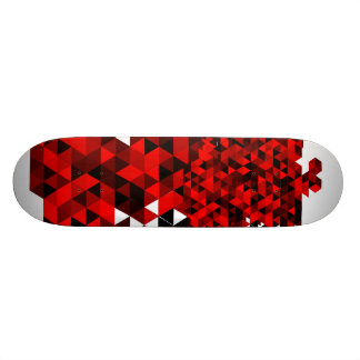 Black and Red Triangles Pattern Skateboard Deck