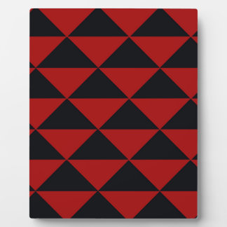 Black and Red Triangles Plaque